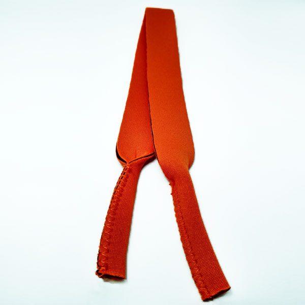 Cordon - Bandeau à lunettes Sport en néoprène orange