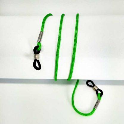 Cordon à lunettes vert en drisse tressée