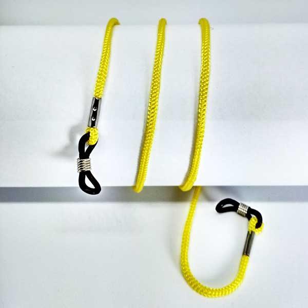 Cordon à lunettes jaune en drisse tressée