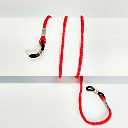 Cordon à lunettes rouge en drisse tressée