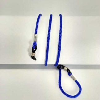 Cordon à lunettes bleu clair en drisse tressée