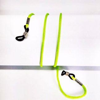 Cordon à lunettes vert clair en drisse tressée