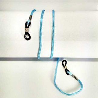 Cordon à lunettes turquoise en drisse tressée
