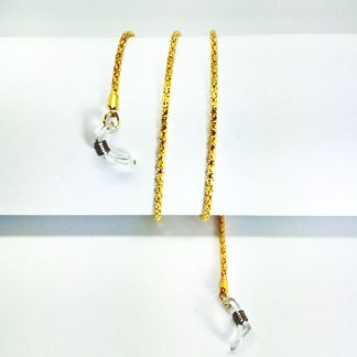 Golden metal glasses chain