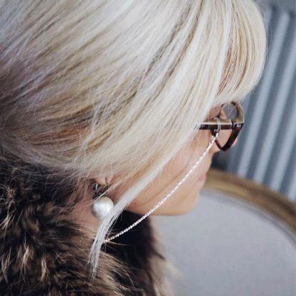 chainette lunette argenté