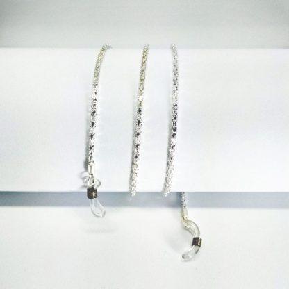 Chaine à lunettes en métal argent