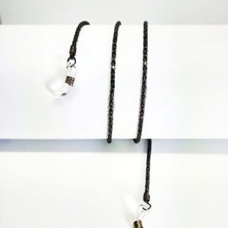 Black metal eyeglass chain