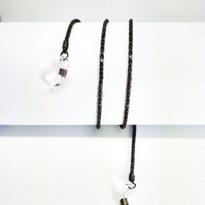 Chaine à lunettes en métal noir