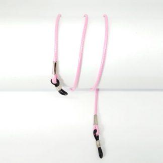 Cordon lunettes en coton ciré rose
