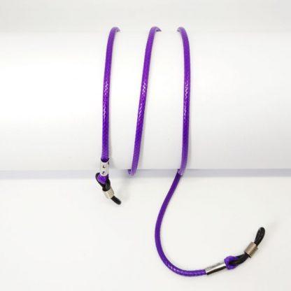 Cordon à lunettes en coton ciré violet