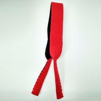 Cordon - Bandeau à lunettes Sport en néoprène rouge