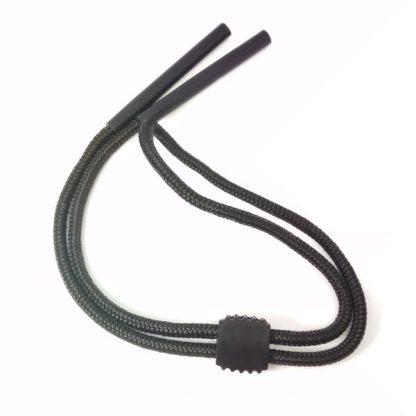 Cordon Sport Noir réglable en coton noir