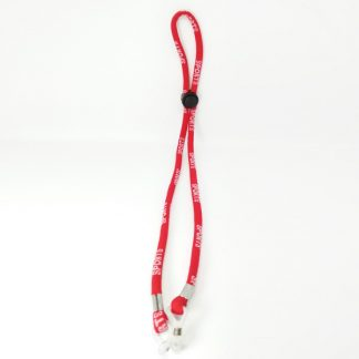 Adjustable red sports cord in cotton