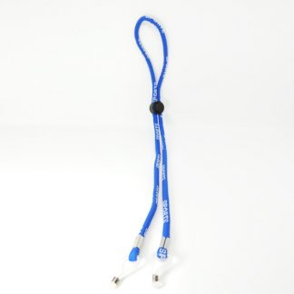 Adjustable sports cord in light blue cotton