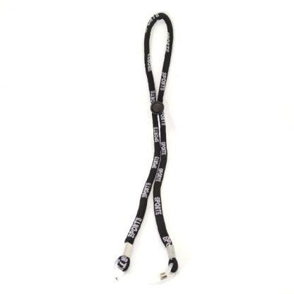 Cordon Sports noir réglable en coton