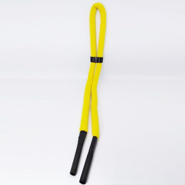 Yellow neoprene floating sunglass strap