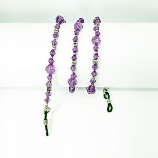 Amethyst color beaded glasses chain