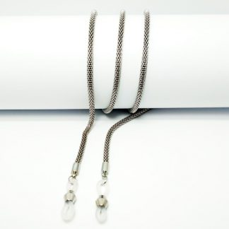 thick silver metal bezel chain