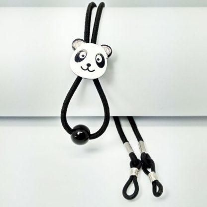 Cordon à lunettes Enfant élastique réglable noir panda