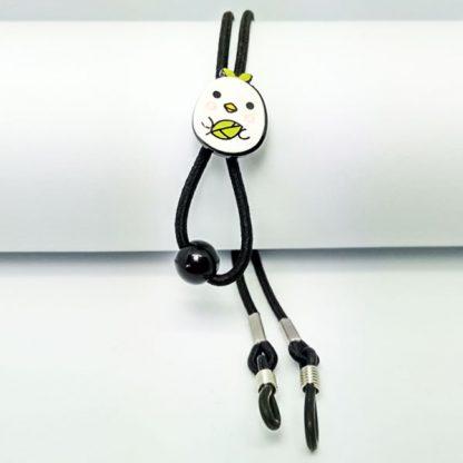 Cordon à lunettes Enfant élastique réglable noir oisillon