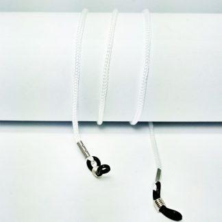 Cordon à lunettes blanc en drisse tressée