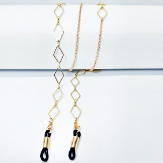 Diamond gold glasses chain