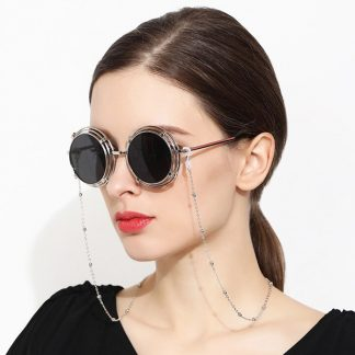 Chaine à lunettes Luxe argentée