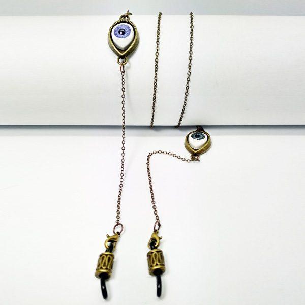 Chaine à lunettes dorée Oeil d'Horus