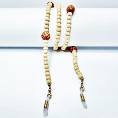 Chaine à lunettes Little Buddha en perles de bois