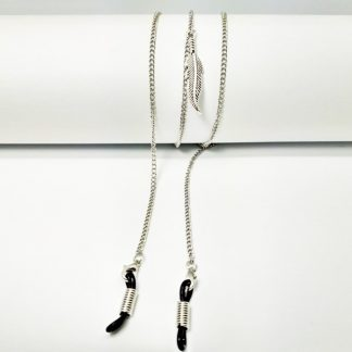 Silver Angel Feather glasses chain