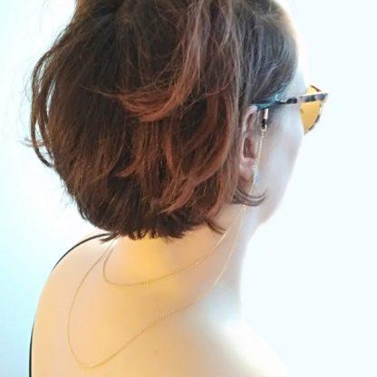 Chaine à lunettes Double Lacets d'Or