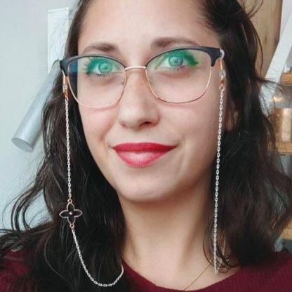 Chaine à lunettes Venus noire