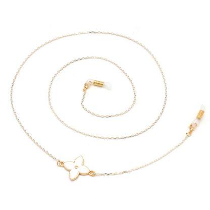 Chaine à lunettes Venus blanche