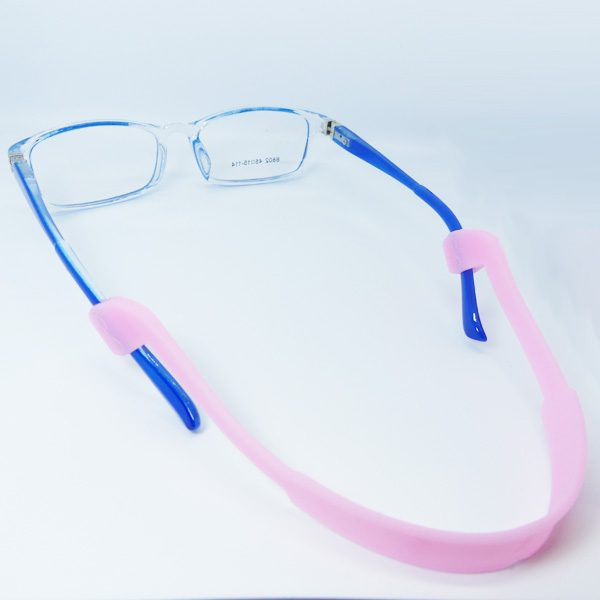 Cordon à lunettes bandeau Enfant en sillicone rose
