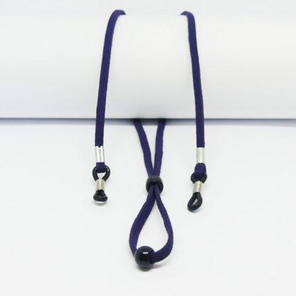 Cordon à lunettes bleu en suédine