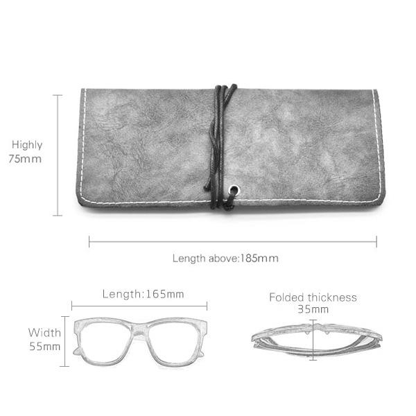 Etui à lunettes Berlin gris en cuir
