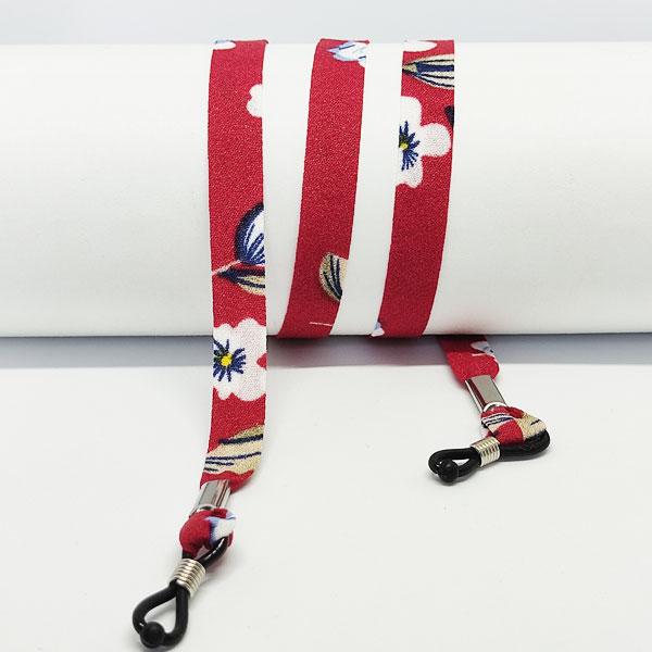 Cordon à lunettes Liberty rouge